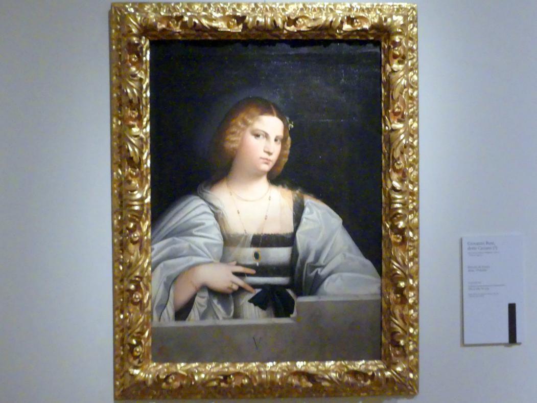 Giovanni Cariani (Giovanni Busi): Porträt einer Frau namens Violante, Um 1515 - 1520