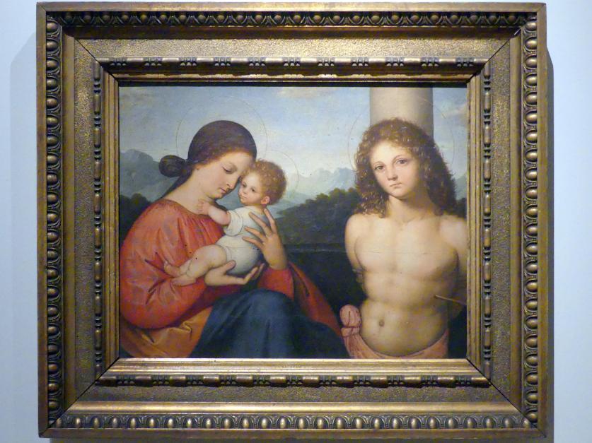 Giovanni Agostino da Lodi: Maria mit Kind und der hl. Sebastian, um 1500 - 1510