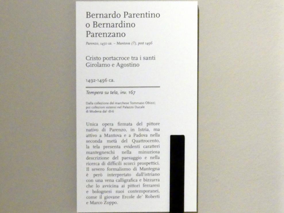 Bernardo Parentino (Bernardo Parenzano): Kreuztragung Christi zwischen den Heiligen Hieronymus und Augustinus, um 1492 - 1496, Bild 2/2