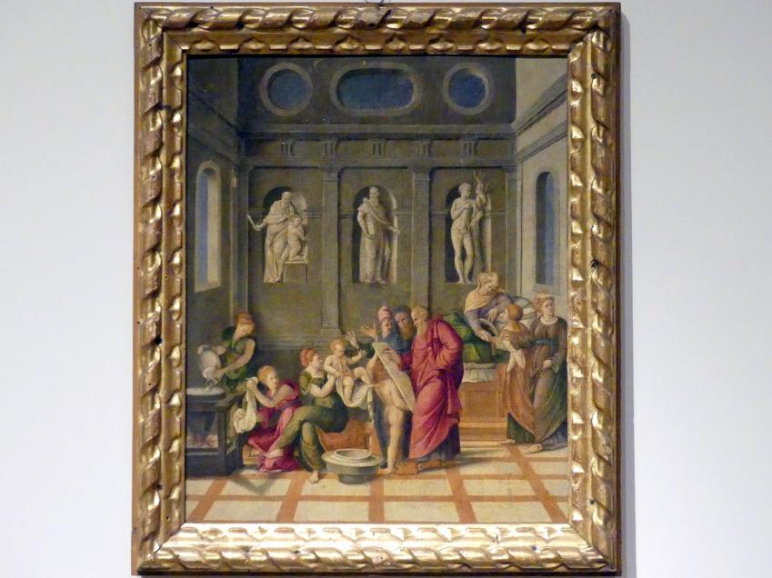 Girolamo da Santacroce: Geburt Johannes des Täufers, um 1535 - 1555