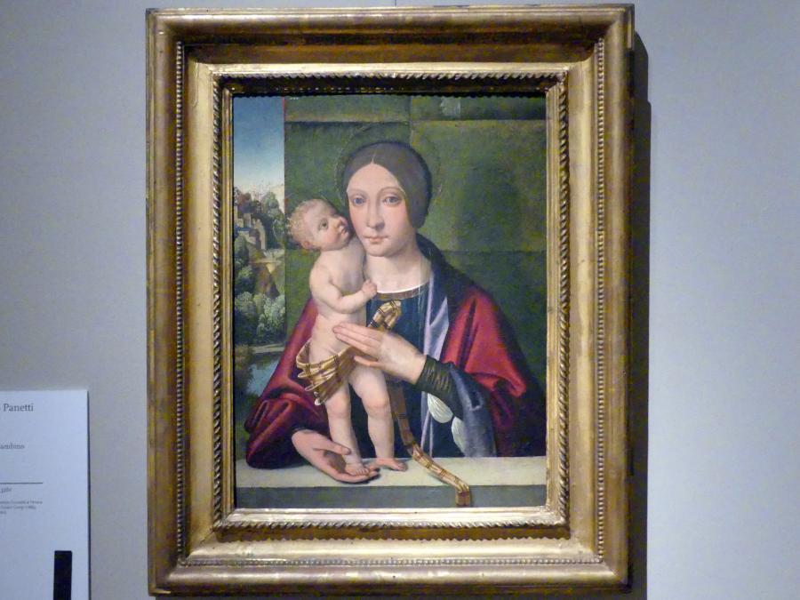 Domenico Panetti: Maria mit Kind, um 1498 - 1500