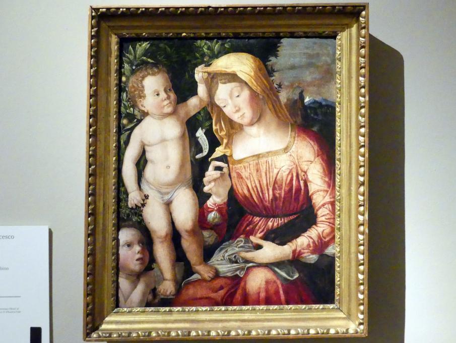 Giovanni Francesco Caroto: Maria mit Kind und dem Johannesknaben, 1501