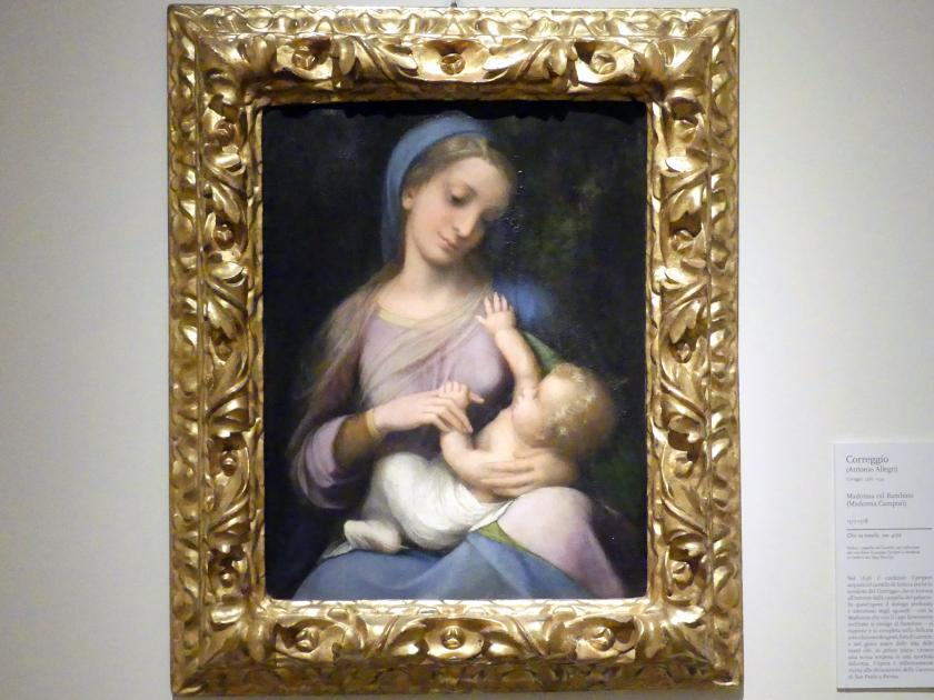 """Antonio Allegri (Correggio): Maria mit Kind (""""Madonna Campori""""), 1517 - 1518"""