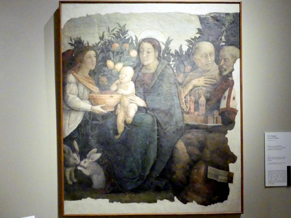 Antonio Allegri (Correggio): Maria mit Kind und den hll. Franziskus und Quirinius, 1511