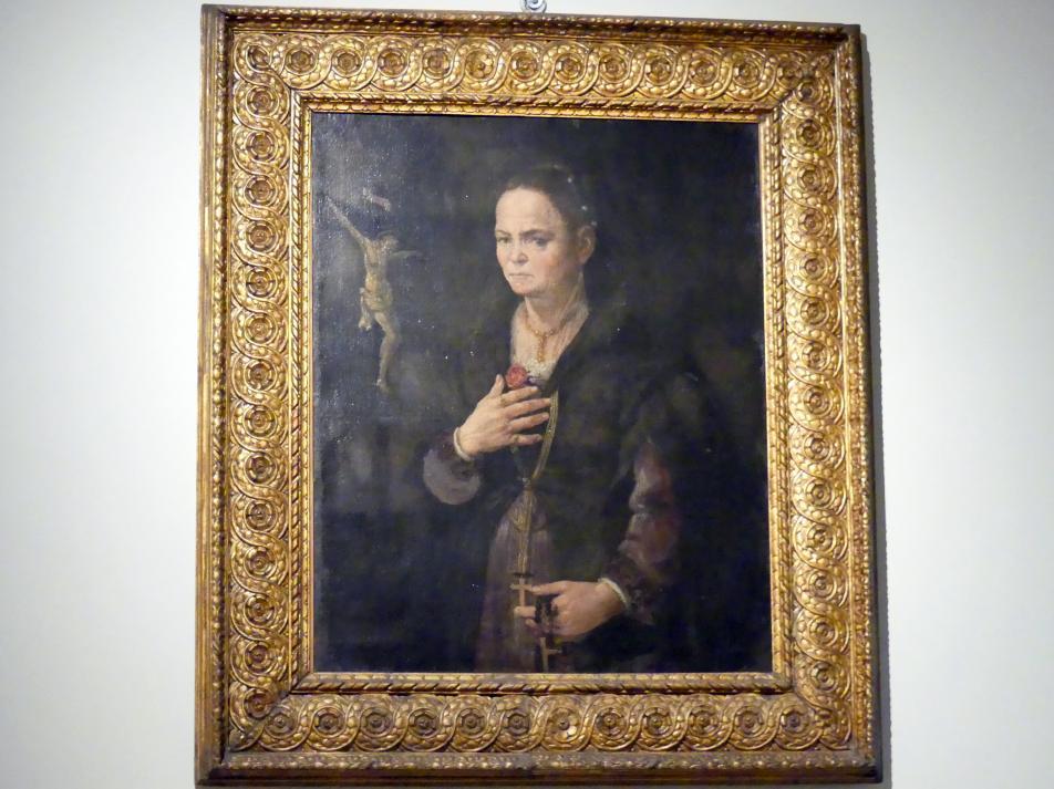 Porträt einer Frau mit  Kruzifix, um 1570 - 1590