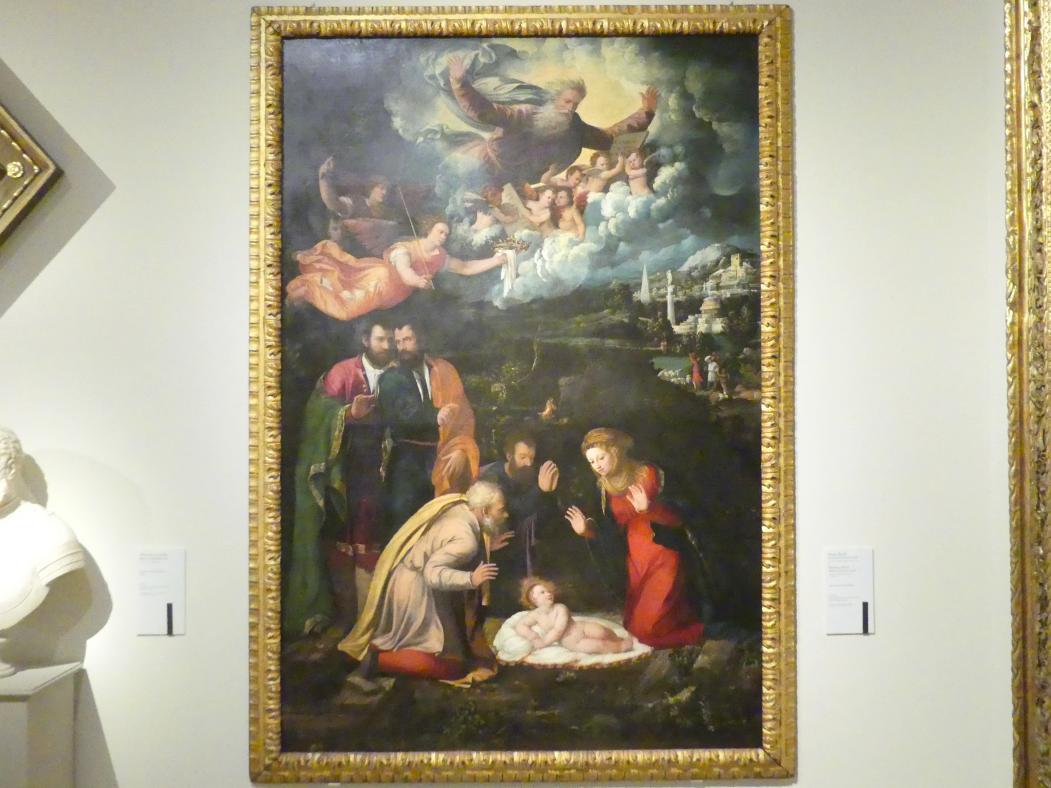 Giovanni Luteri (Dosso Dossi): Anbetung des Christkindes, 1533 - 1536