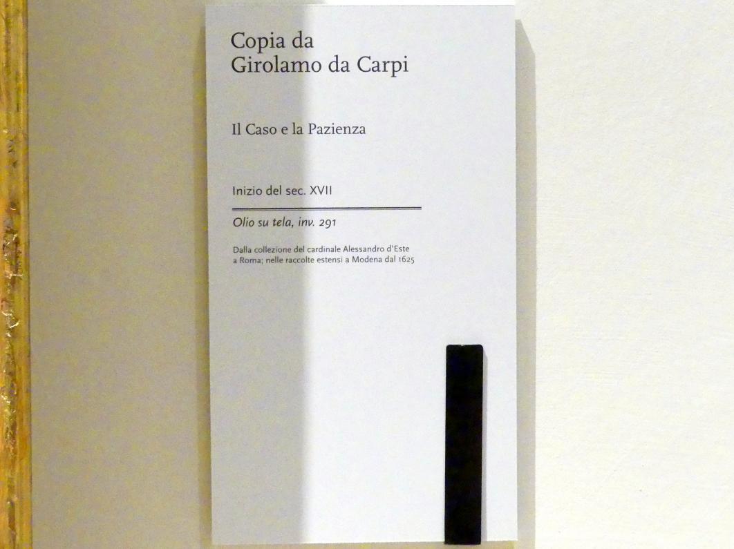 Girolamo da Carpi (Kopie): Der Zufall und die Geduld, Beginn 17. Jhd., Bild 2/2