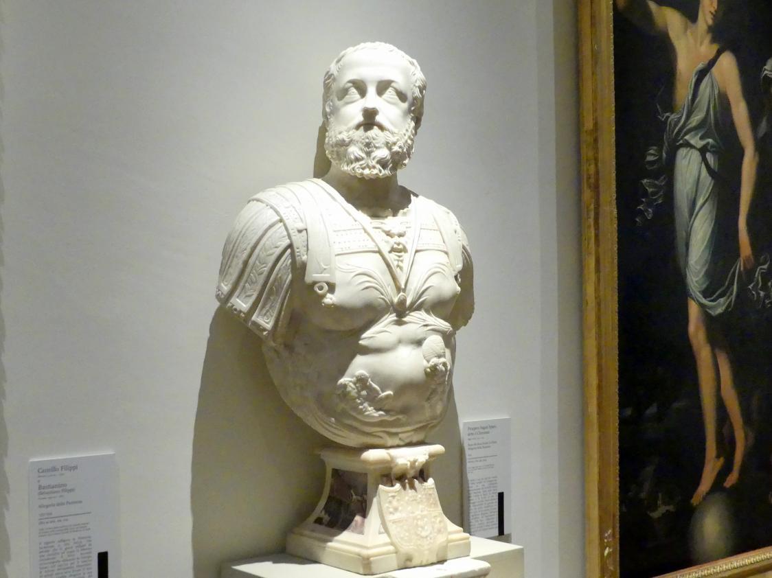 Prospero Sogari Spani (il Clemente): Porträt des Ercole II. d'Este, Allegorie der Geduld, 1554