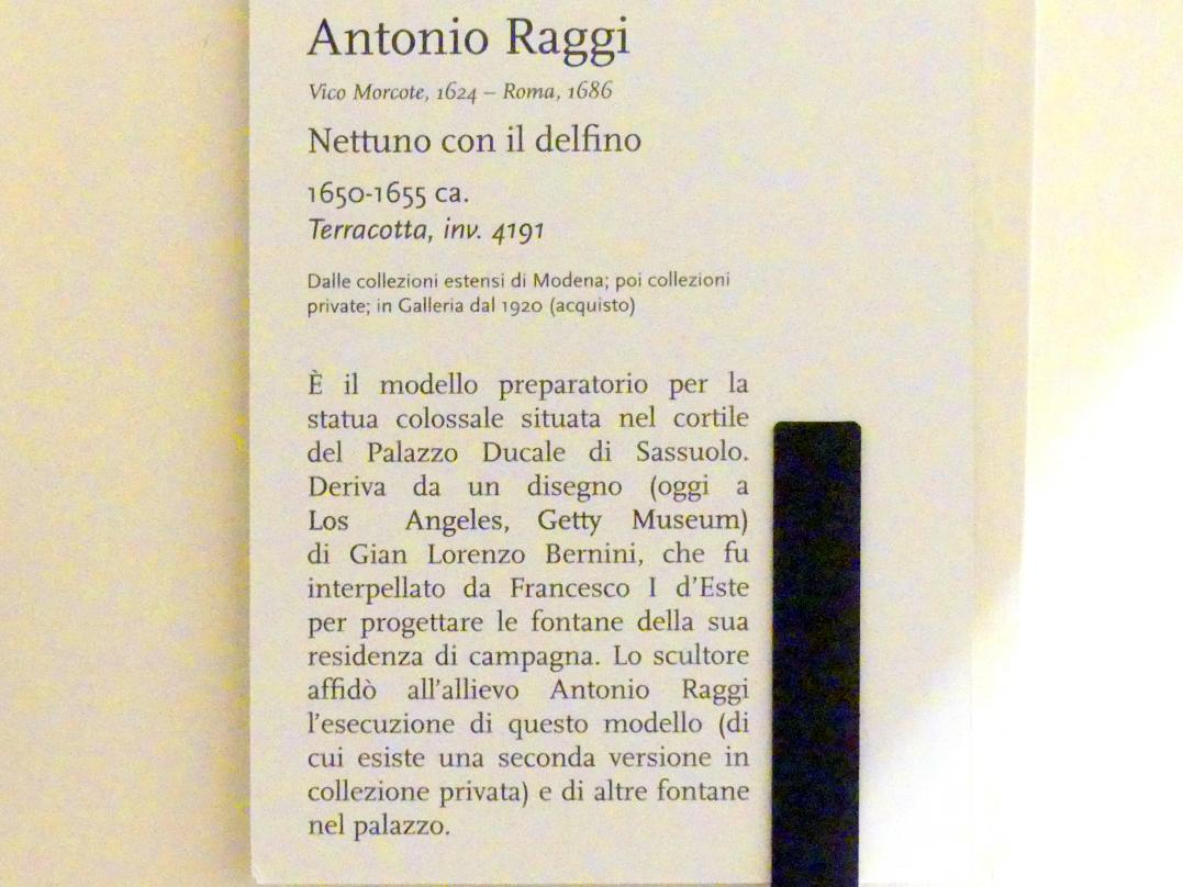 Antonio Raggi: Neptun mit dem Delphin, um 1650 - 1655, Bild 4/4