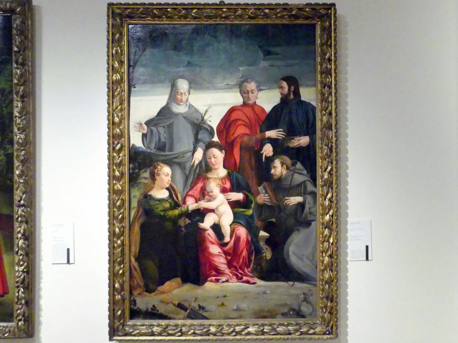 Gaspare Pagani: Mystische Vermählung der hl. Katharina, 1541