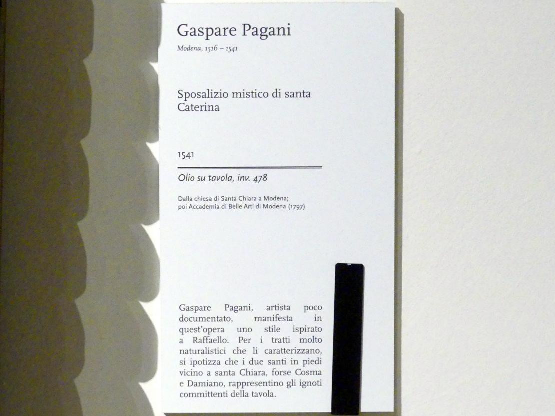 Gaspare Pagani: Mystische Vermählung der hl. Katharina, 1541, Bild 2/2