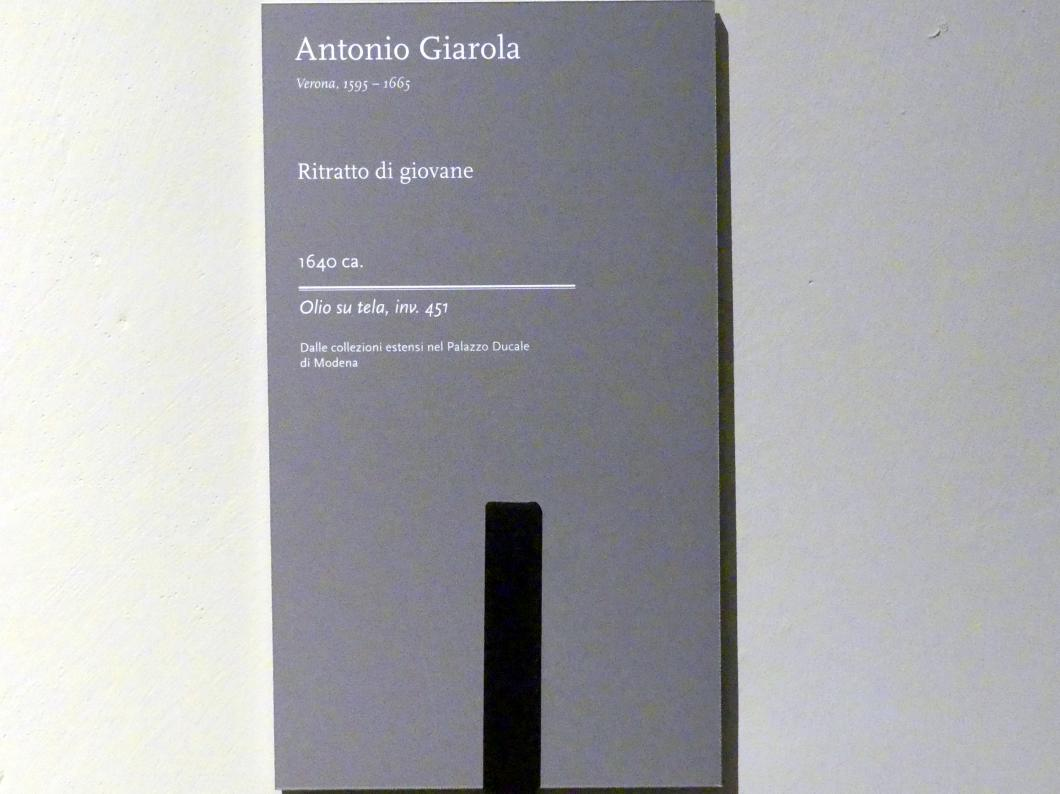 Antonio Giarola: Bildnis eines Jünglings, um 1640, Bild 2/2