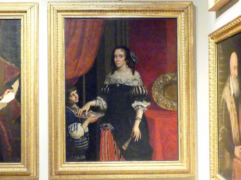 Benedetto Gennari II: Bildnis der Ricciarda Cybo Malaspina (1622-1683), Ehefrau des Grafen Alfonso II Gonzaga, 1666