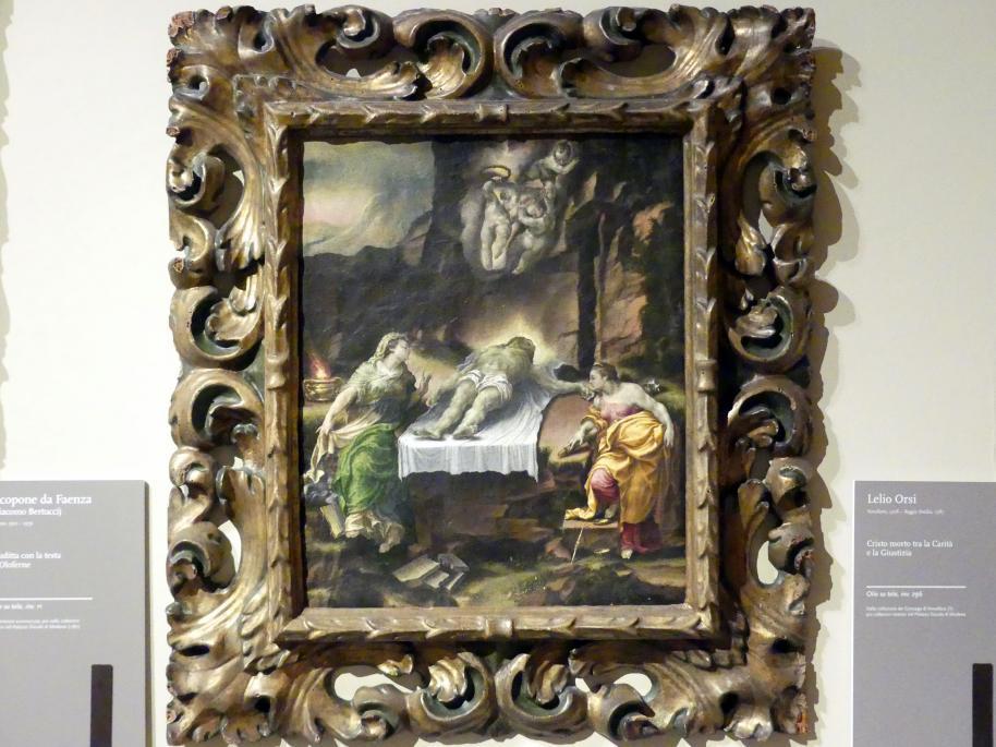Lelio Orsi: Christus im Grab mit Caritas und Justitia, Undatiert