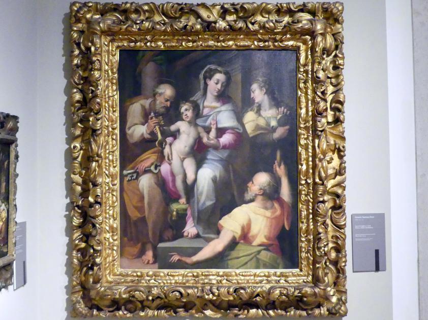 Orazio Samacchini: Heilige Familie mit Apostel Petrus und der Heiligen Maria Magdalena, Undatiert