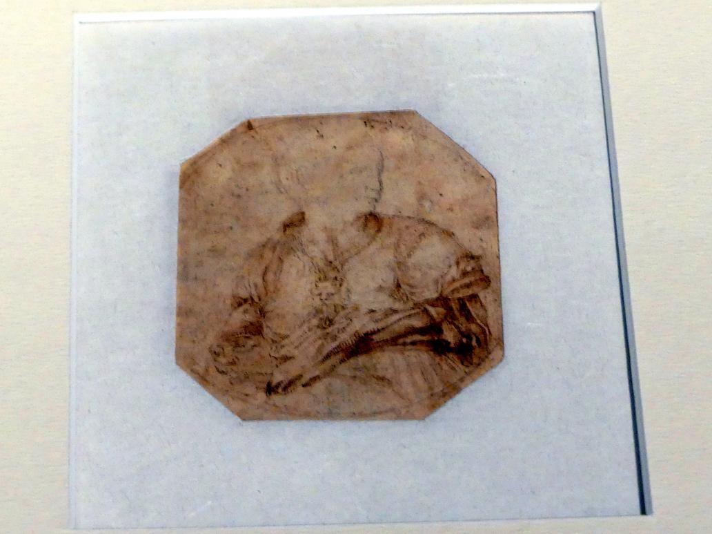 Lelio Orsi: Brustbild mit Rüstung und Siringa, Um 1560 - 1565