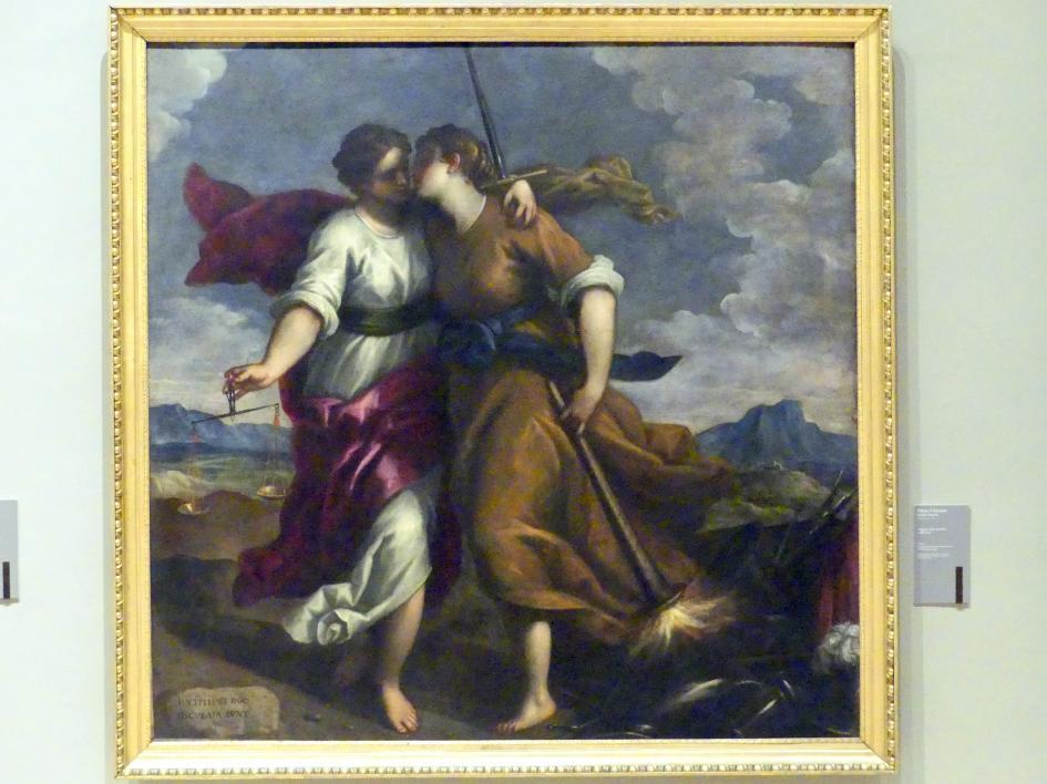 Jacopo Palma der Jüngere (Palma il Giovane / Giacomo Negretti): Allegorie der Gerechtigkeit und des Friedens, Um 1620