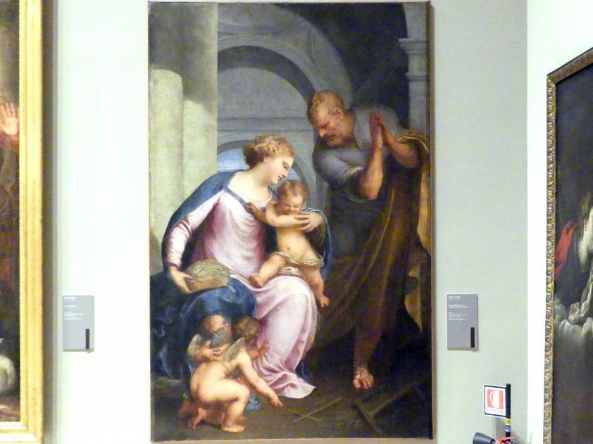 Pietro Liberi: Heilige Familie mit zwei Engeln die ein Kreuz formen, Um 1652