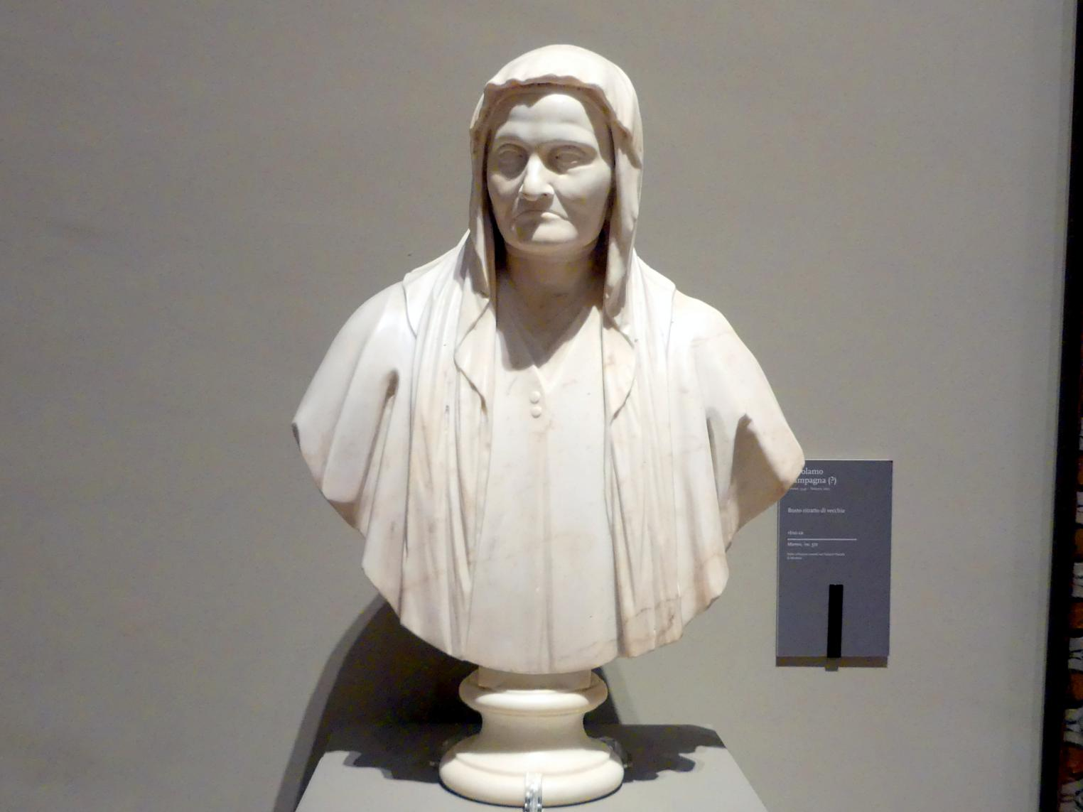 Girolamo Campagna: Büste einer alten Frau, um 1600
