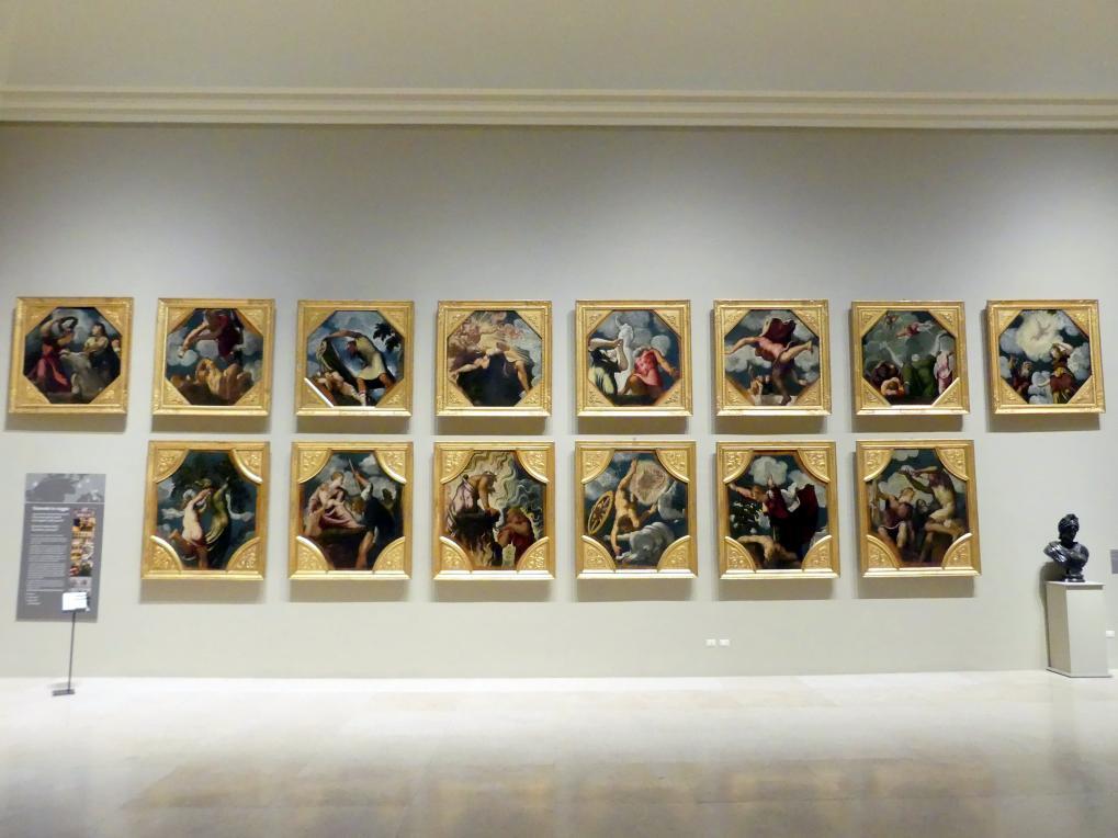 Tintoretto (Jacopo Robusti): Zyklus von vierzehn Deckengemälden, 1541 - 1542