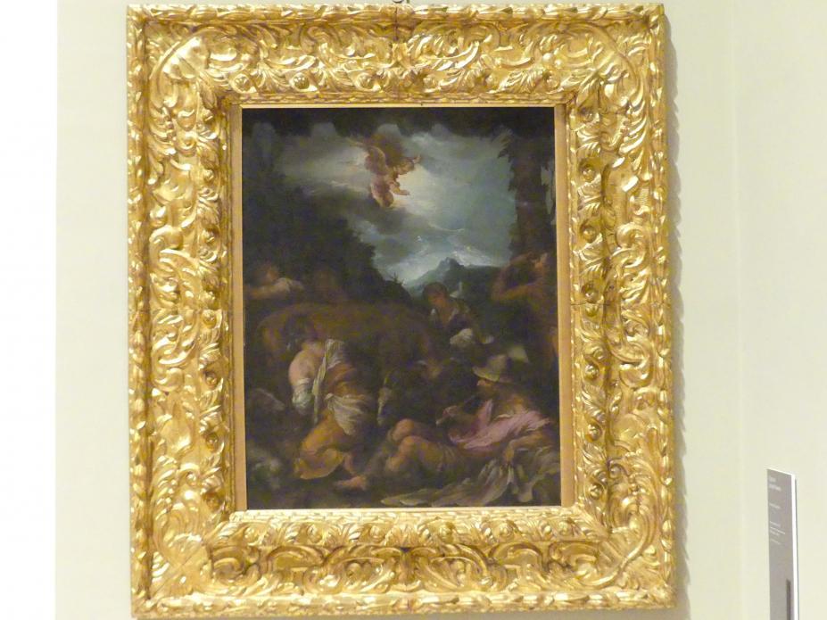 Jacopo Bassano (Kopie): Verkündigung an die Hirten, 1. Hälfte 17. Jhd.