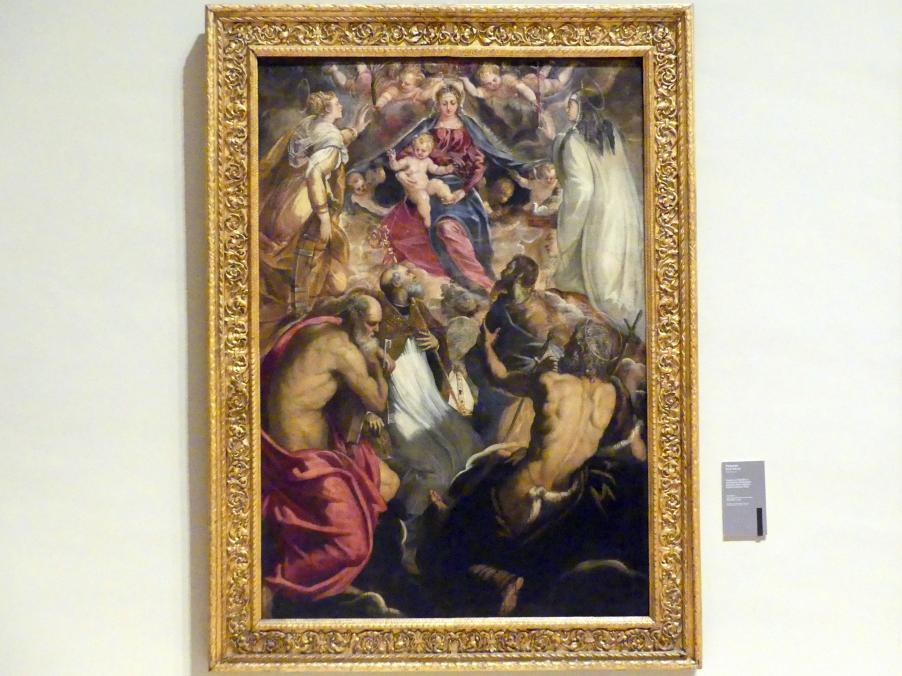 Tintoretto (Jacopo Robusti): Maria mit Kind und den hll. Katharina, Scholastika, Petrus, Augustinus, Johannes der Täufer und Paulus, Um 1547 - 1549