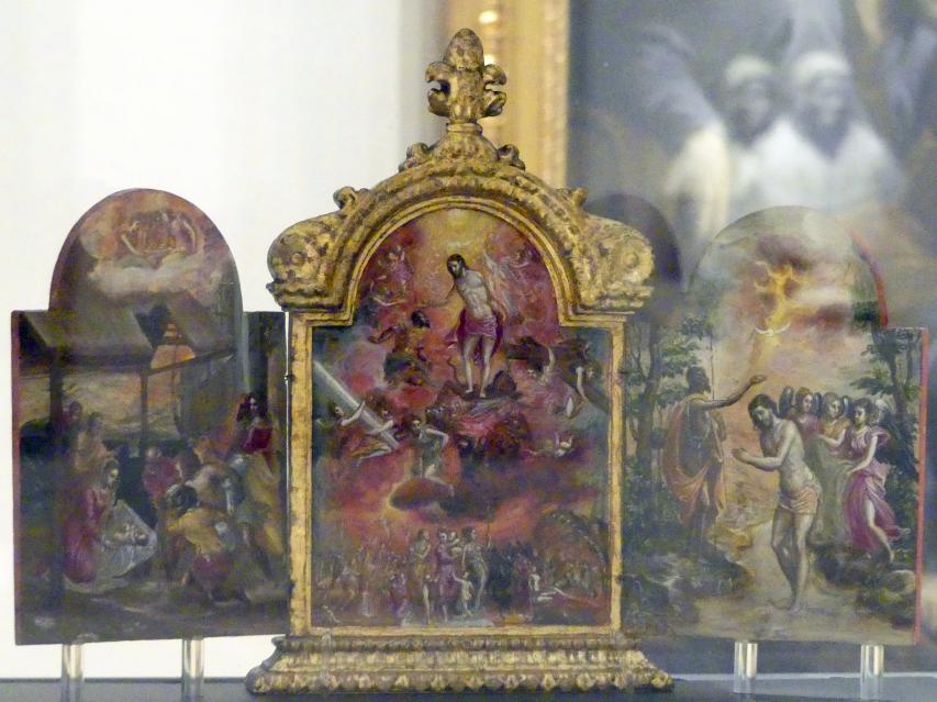 El Greco (Domínikos Theotokópoulos): Tragbarer Altar, 1567 - 1568