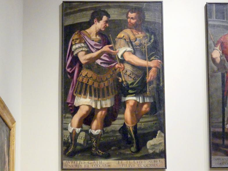 Bernardino Cervi: Idealisierte Porträts des Aurelio und des Tiberio Azio d'Este, 1627 - 1628