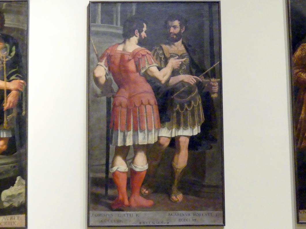 Bernardino Cervi: Idealisierte Porträts des Alforisio und des Acarino d'Este, 1627 - 1628