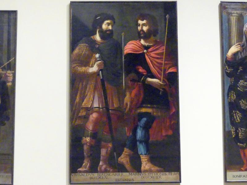 Bernardino Cervi (Werkstatt): Idealisierte Porträts des Ubaldo und des Marino d'Este, 1627 - 1628