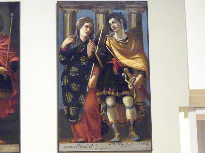 Bernardino Cervi (Werkstatt): Idealisierte Porträts der Matilde di Canossa und des Aldobrandino  d'Este, 1627 - 1628