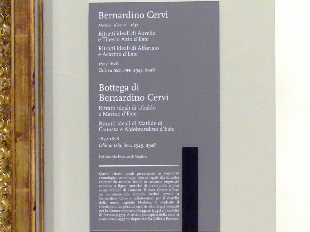 Bernardino Cervi (Werkstatt): Idealisierte Porträts der Matilde di Canossa und des Aldobrandino  d'Este, 1627 - 1628, Bild 2/2