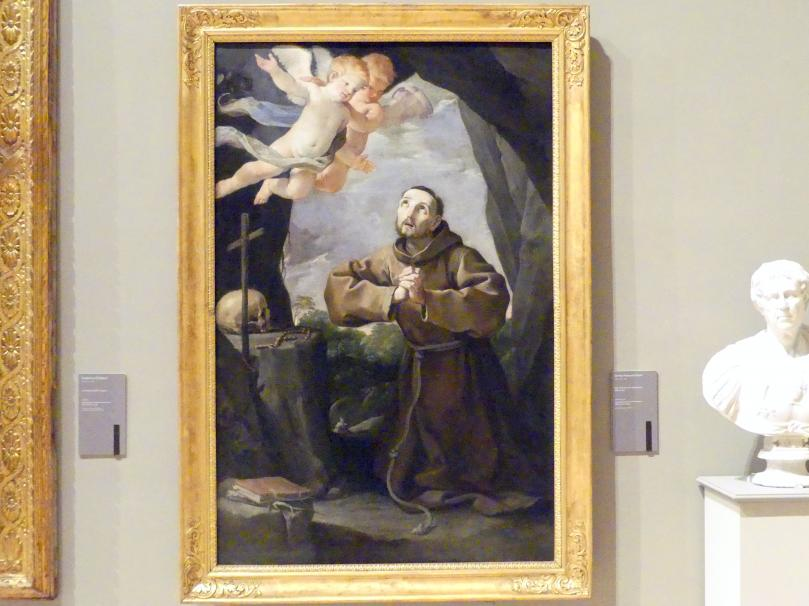 Francesco Gessi (Giovan Francesco Gessi): Anbetung des Kreuzes durch den hl. Franziskus, Um 1630 - 1640
