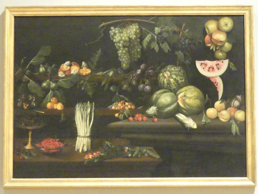 Stillleben mit Früchten, Gemüse und Pilzen, um 1610 - 1620