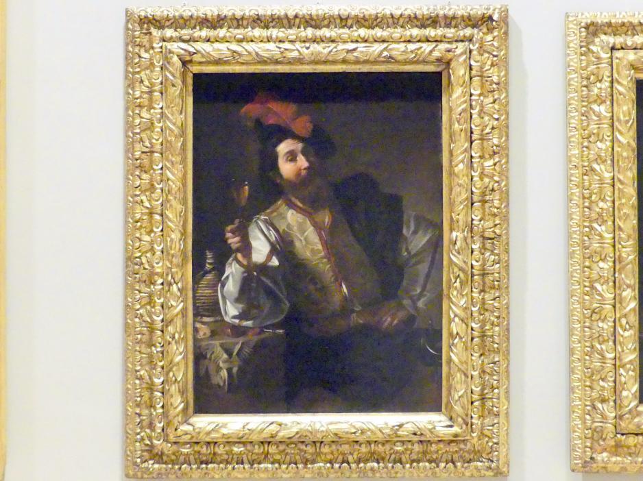 Nicolas Tournier: Soldat, der das Glas hebt, 1619 - 1624