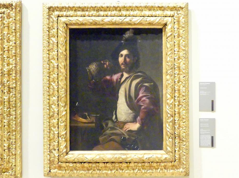 Nicolas Tournier: Soldat, der die Flasche hebt, 1619 - 1624
