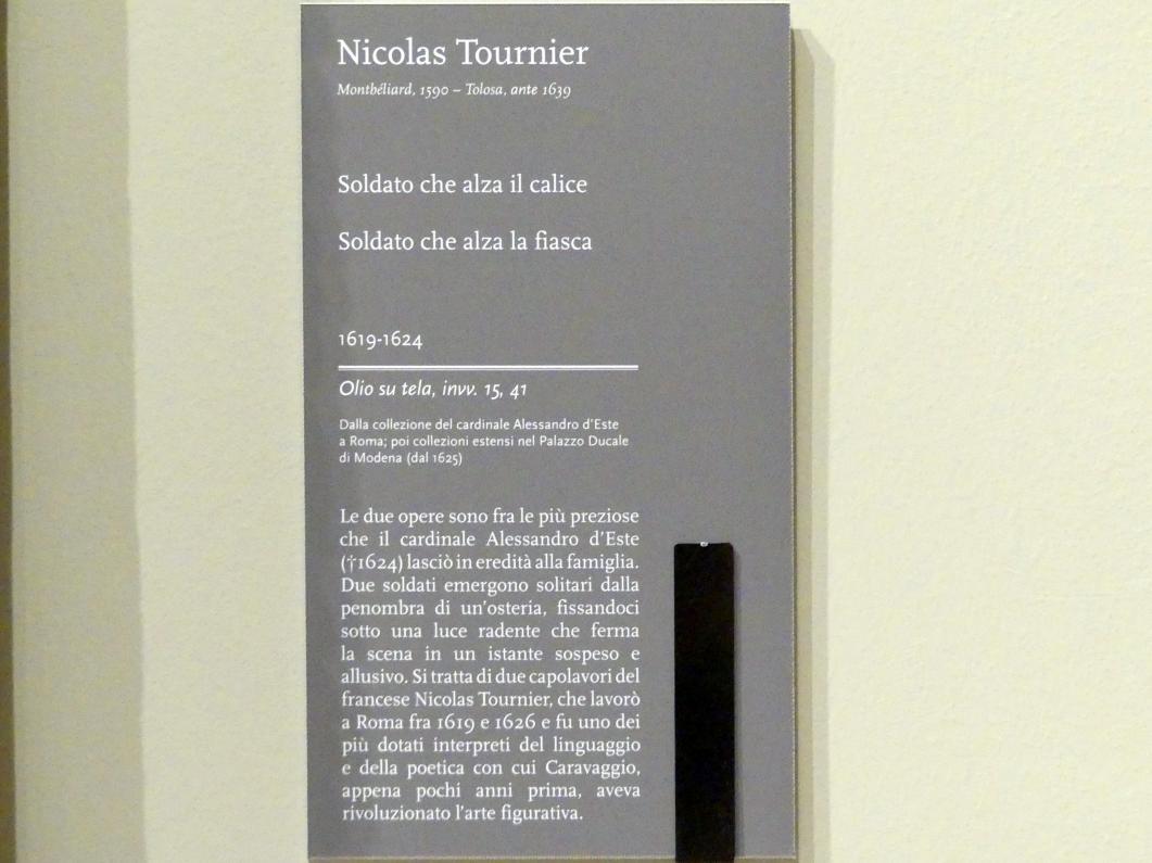 Nicolas Tournier: Soldat, der die Flasche hebt, 1619 - 1624, Bild 2/2