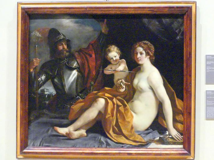 Giovanni Francesco Barbieri (Il Guercino): Venus, Mars und Amor, 1633
