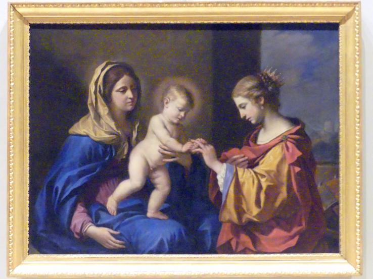Giovanni Francesco Barbieri (Il Guercino): Mystische Vermählung der Heiligen Katharina, 1650