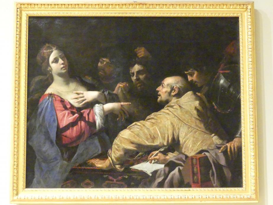 Luca Ferrari: Königin Tomyris taucht den Kopf des Cyrus in Blut, 1644 - 1649