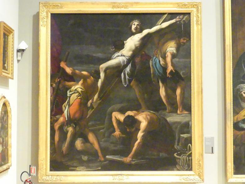 Alessandro Tiarini: Kreuzaufrichtung, Um 1622