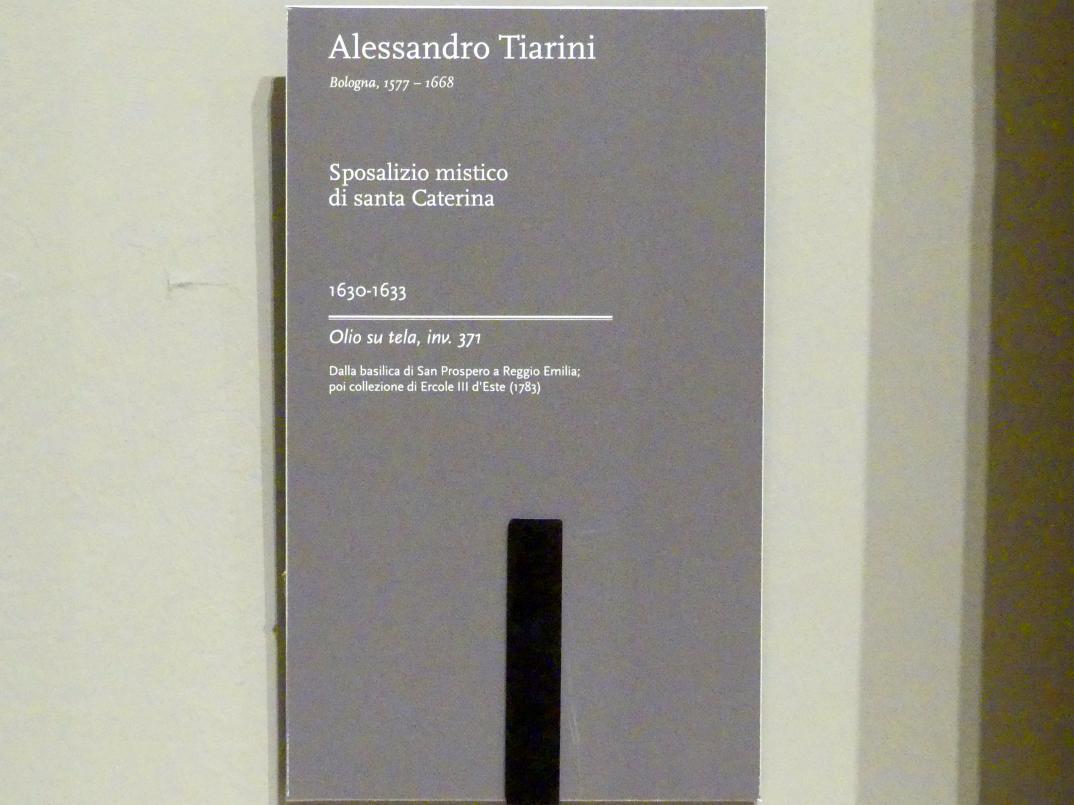 Alessandro Tiarini: Mystische Vermählung der Heiligen Katharina, 1630 - 1633, Bild 2/2
