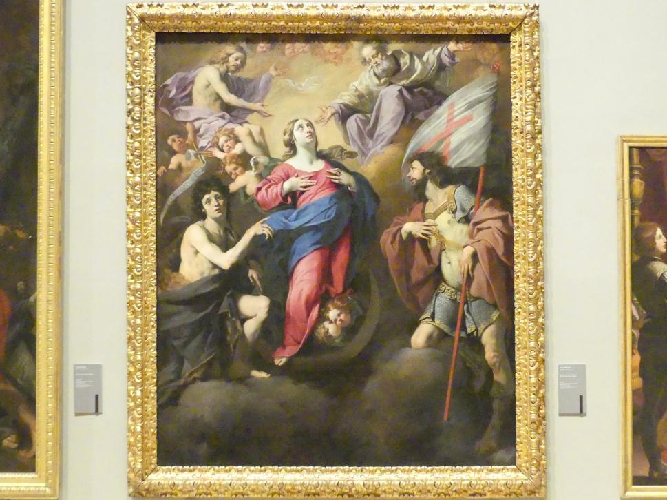 Luca Ferrari: Himmelfahrt Mariens zwischen Johannes dem Täufer und dem hl. Georg, Um 1649