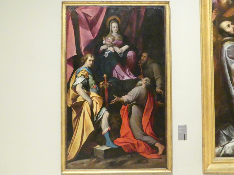 Camillo Procaccini: Thronende Madonna mit Kind und den hll. Hieronymus, Vitalis und Franziskus, 1598 - 1626