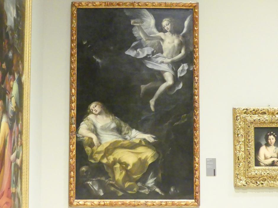 Giovan Gioseffo Dal Sole: Besuch des Engels mit Dornenkrone bei der hl. Maria Magdalena, um 1695 - 1700