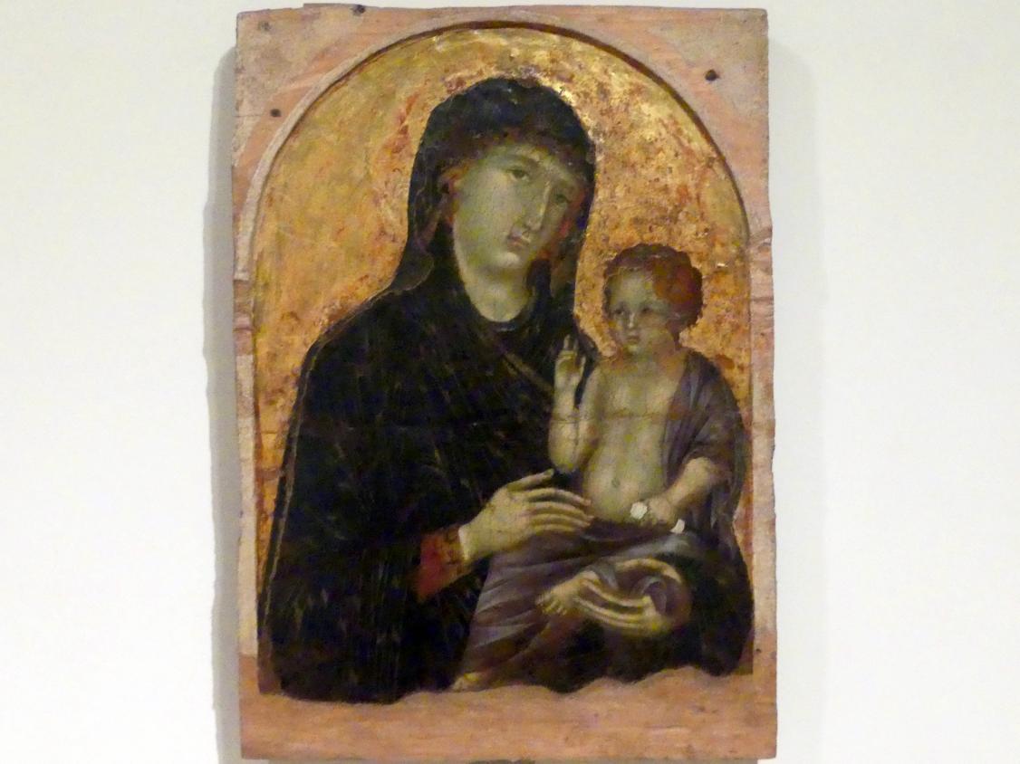 Duccio di Buoninsegna: Maria mit Kind, Beginn 14. Jhd.