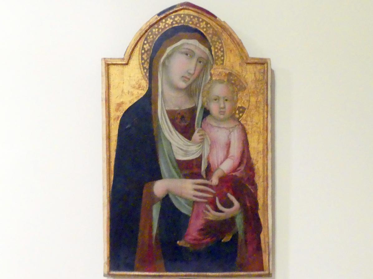 Pietro Lorenzetti: Maria mit Kind, 1. Hälfte 14. Jhd.