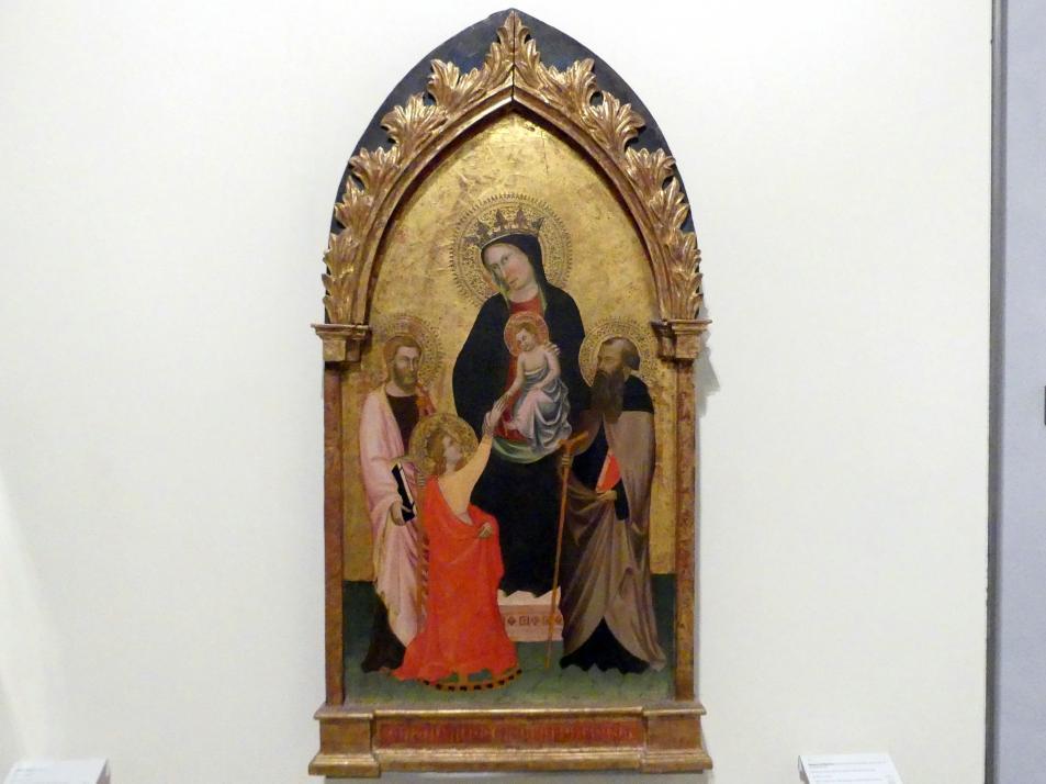 Maestro di Sant' Ivo: Die mystische Vermählung der hl. Katharina zwischen Heiligen, Ende 14. Jhd.