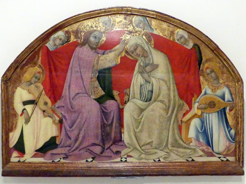 Sano di Pietro: Marienkrönung mit Engeln, 15. Jhd.