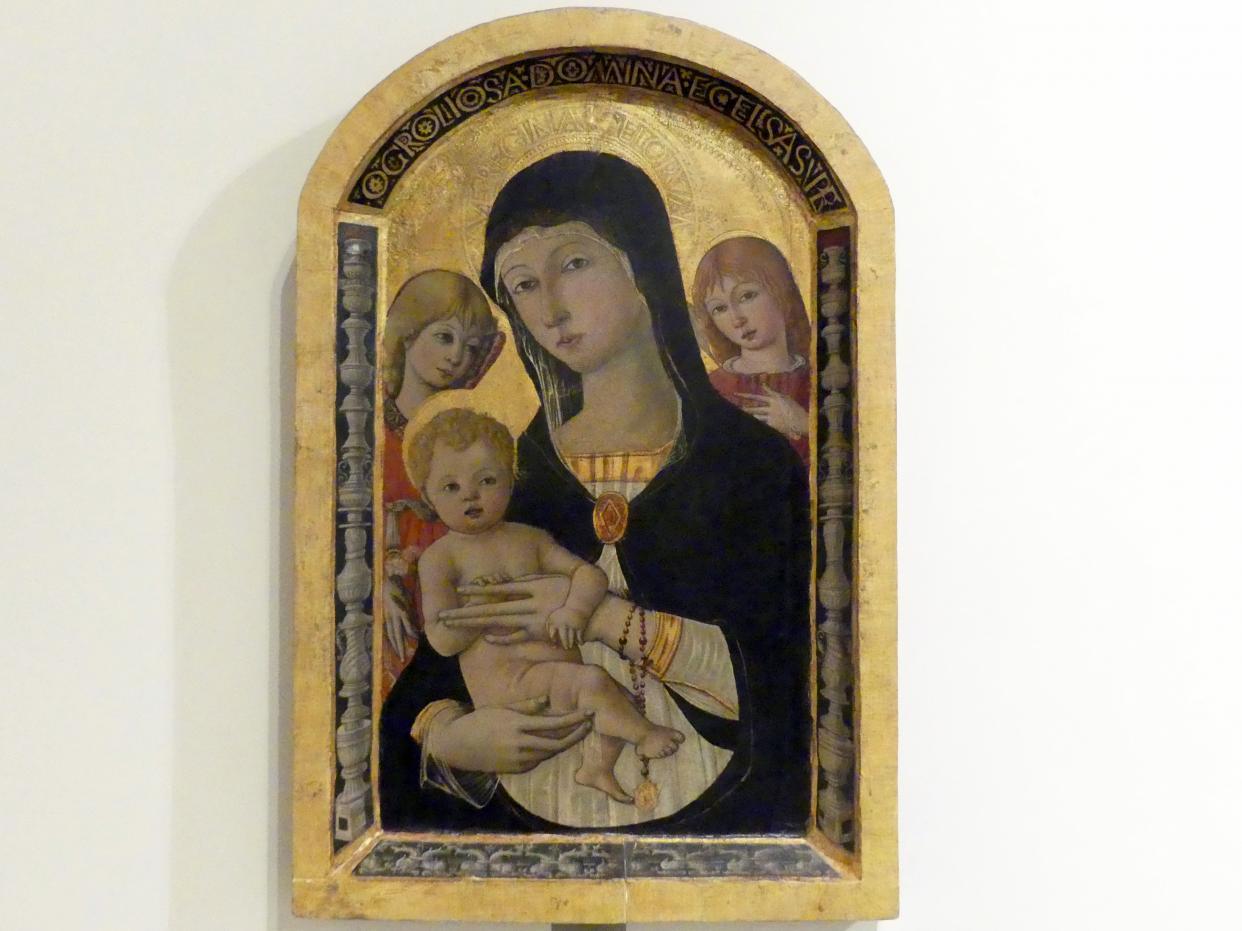 Guidoccio Cozzarelli: Maria mit Kind und zwei Engeln, Undatiert